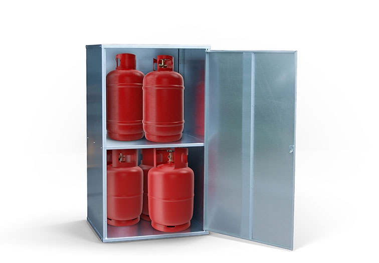 Gasflaschenlagerung