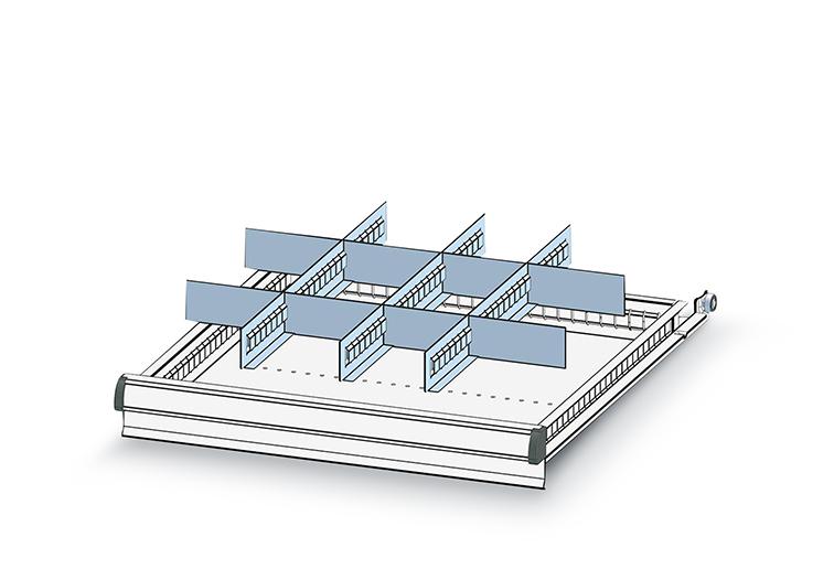 Schubladeneinteilungsmaterial